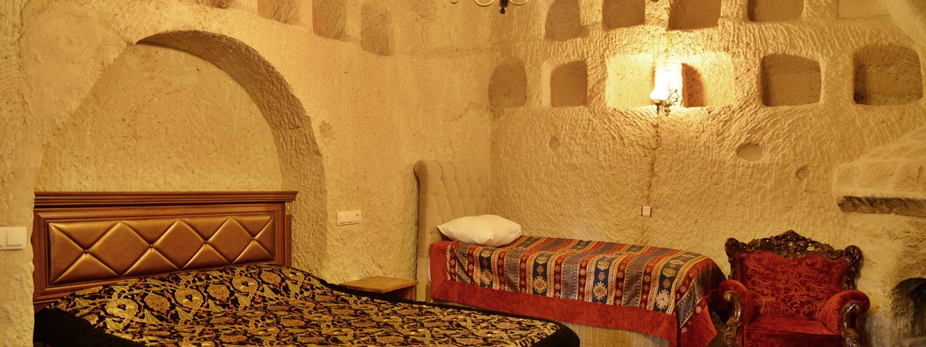 Hhand-carved furnishings and locally-made fabrics
